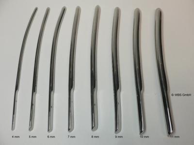 Dilatator - Bougie Stifte,Dilatoren nach Hegar,Edelstahl,4-11 mm