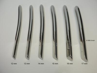 Dilatator - Bougie Stifte,Dilatoren nach Hegar,Edelstahl,12-17mm