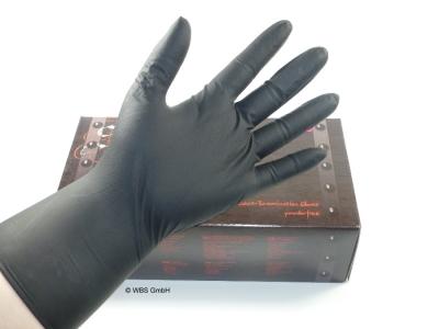 Latex Untersuchungshandschuhe schwarz Größe L