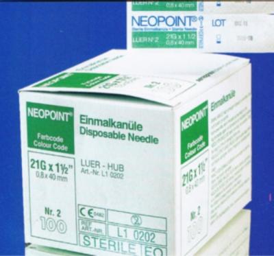 Kanüle Neopoint - 27G x 3/4 grau