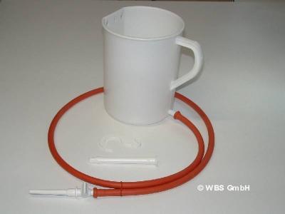 Irrigator aus Kunststoff 2 Liter, Einlauf - Klistier Heilfasten
