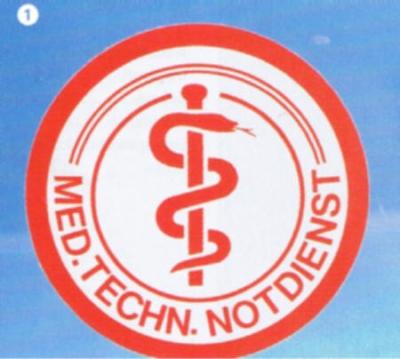 Schild: Med.-techn. Notdienst