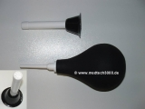 Kombi aus Frauendusche / Klistierspritze - schwarz 480 ml